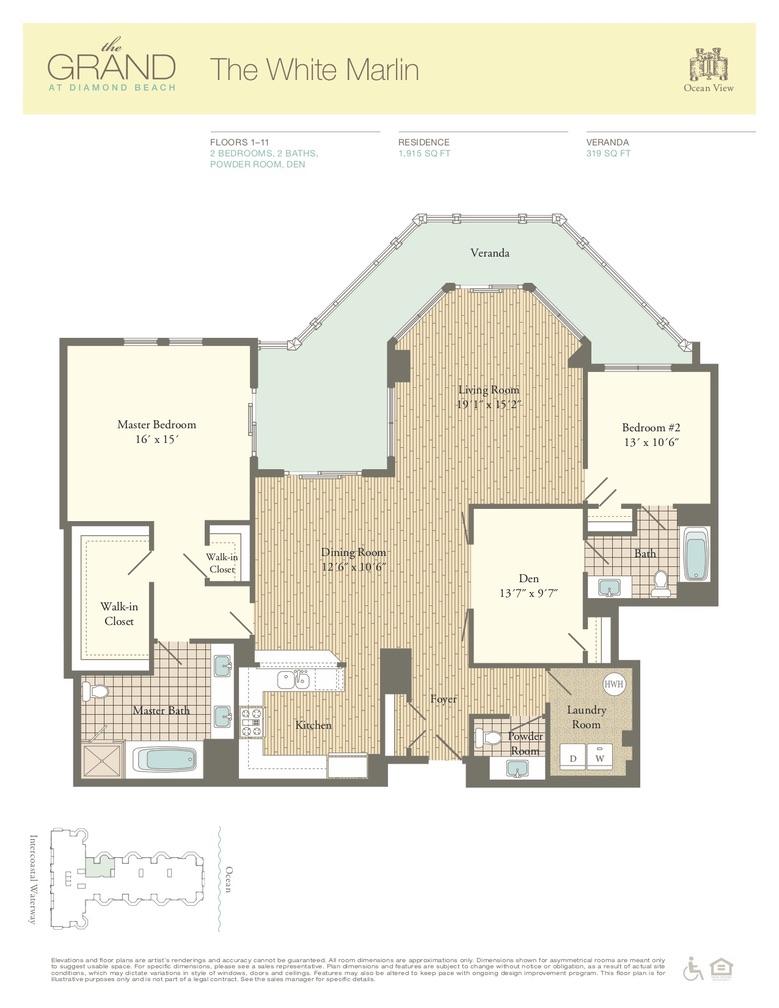 Floor Plan for Residence 407
