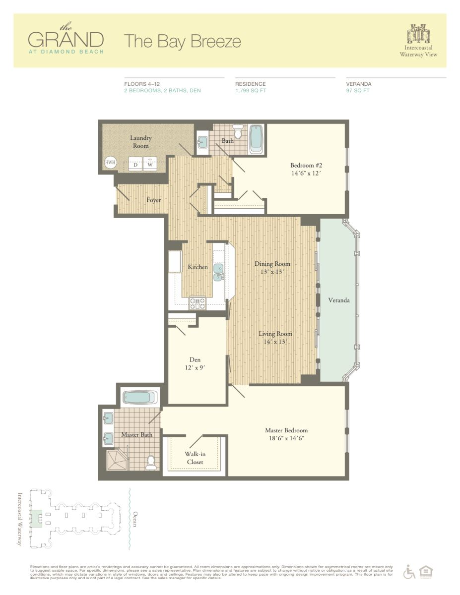 Floor Plan for Residence 1205