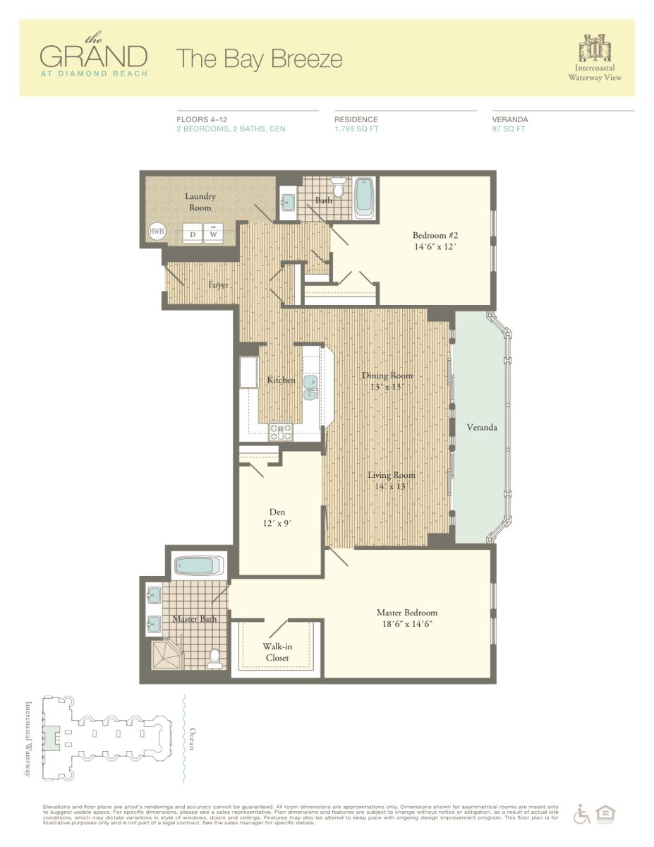 Floor Plan for Residence 505