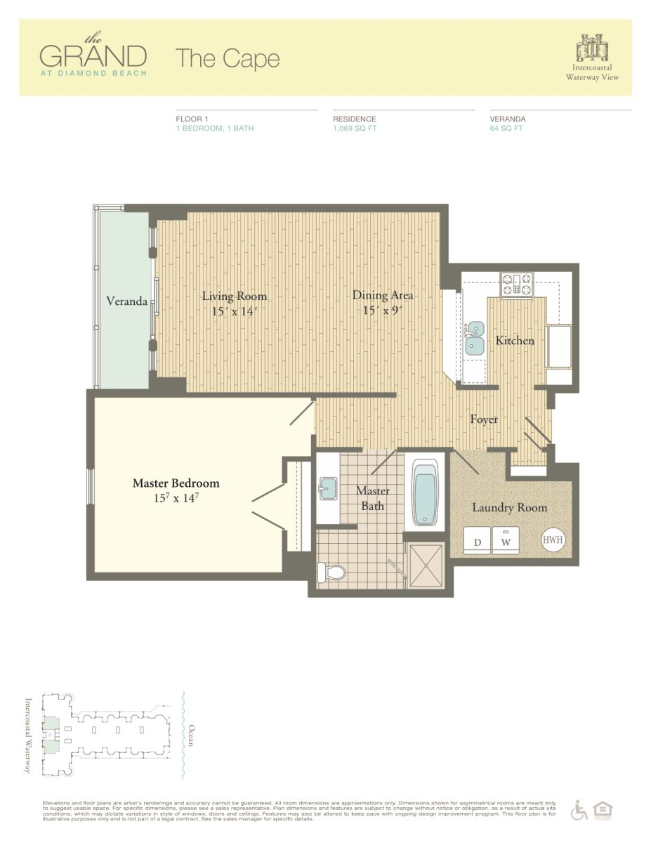Floor Plan for Residence 105