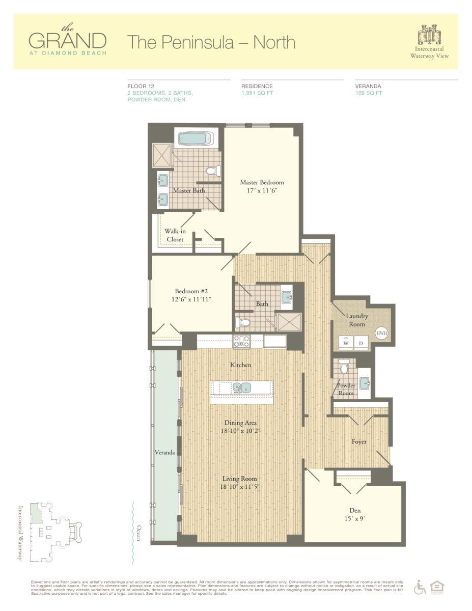 Floor Plan for Residence 1201