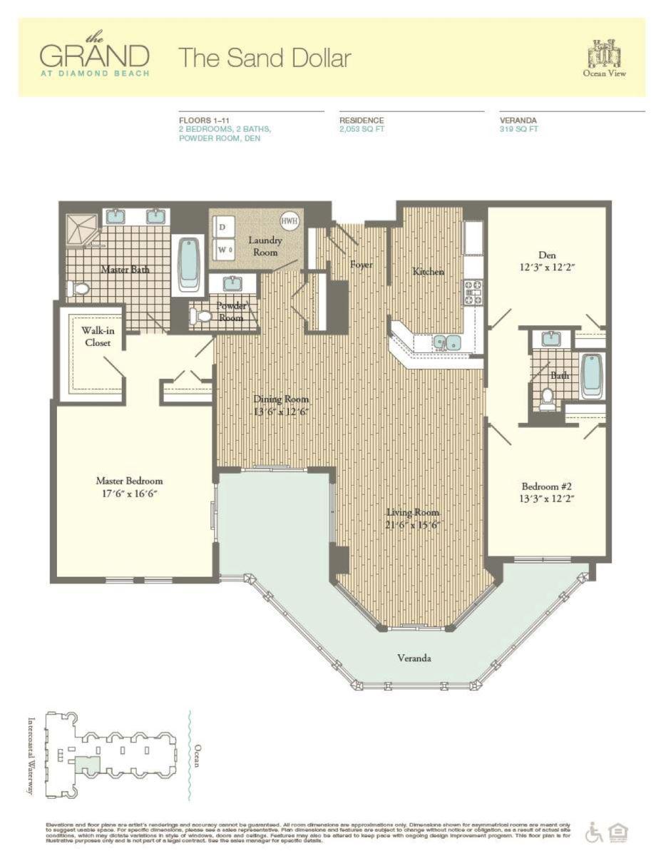 Floor Plan for Residence 608