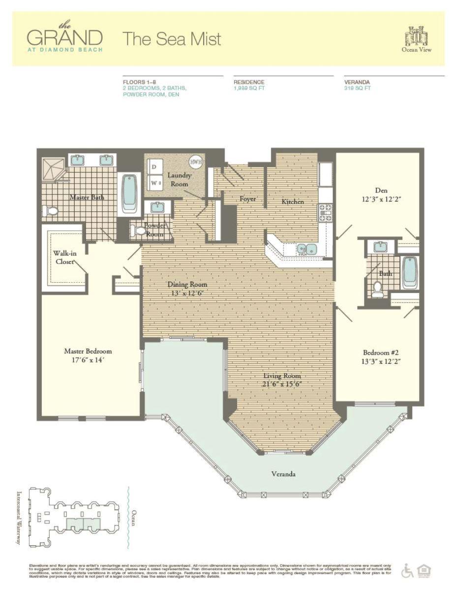 Floor Plan for Residence 412