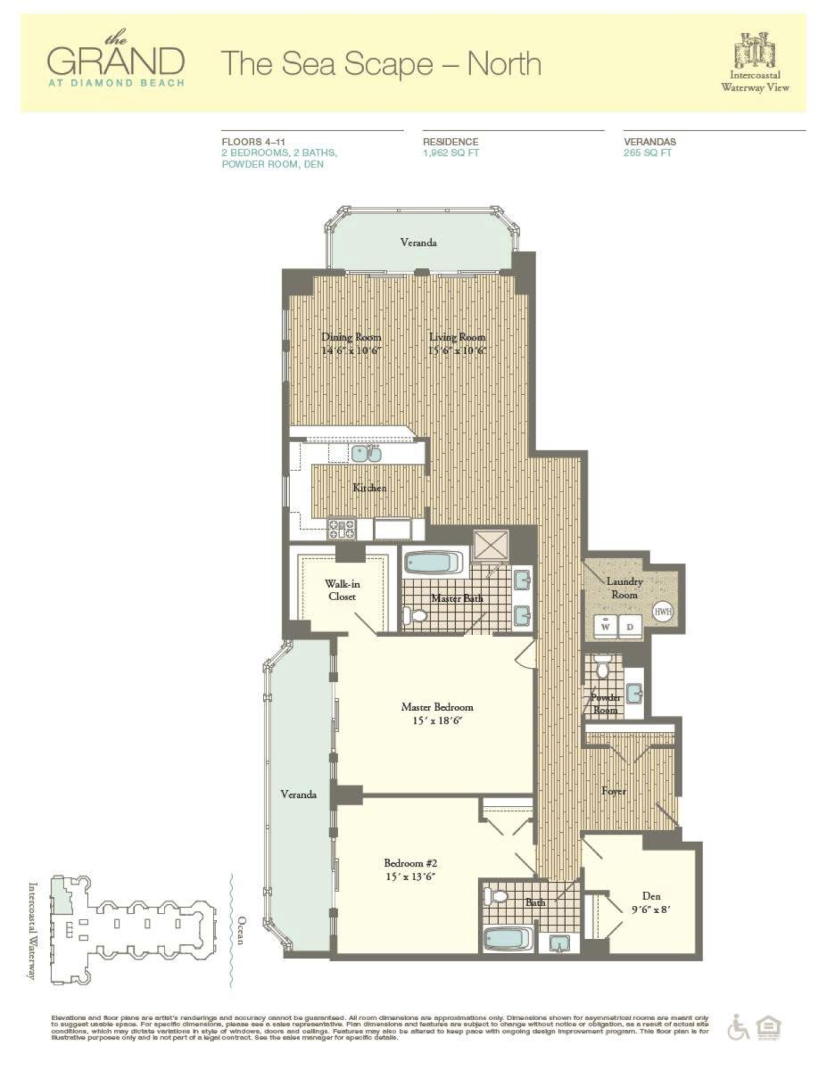 Floor Plan for Residence 601
