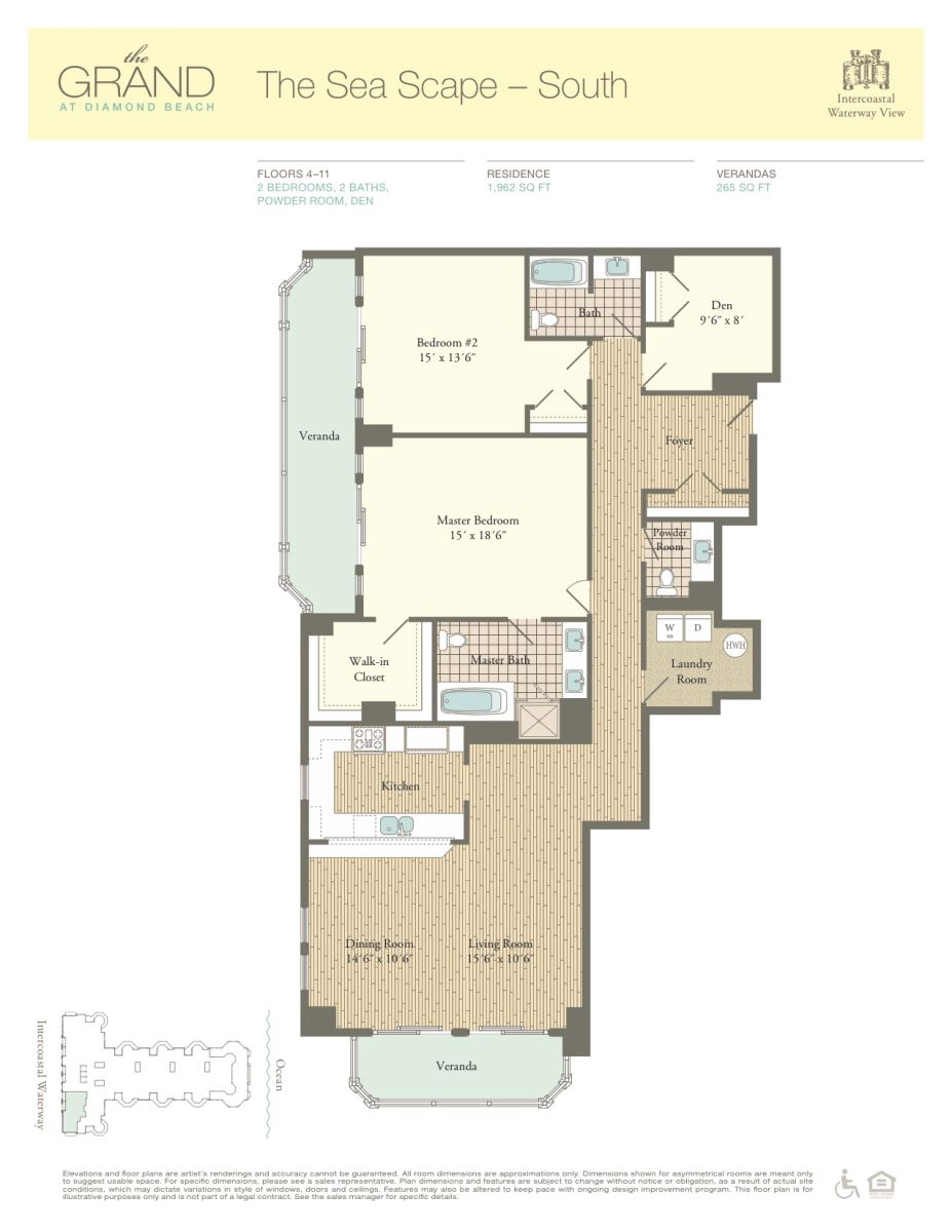 Floor Plan for Residence 504