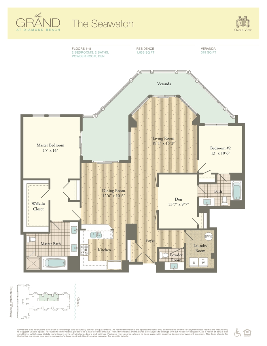 Floor Plan for Residence 709