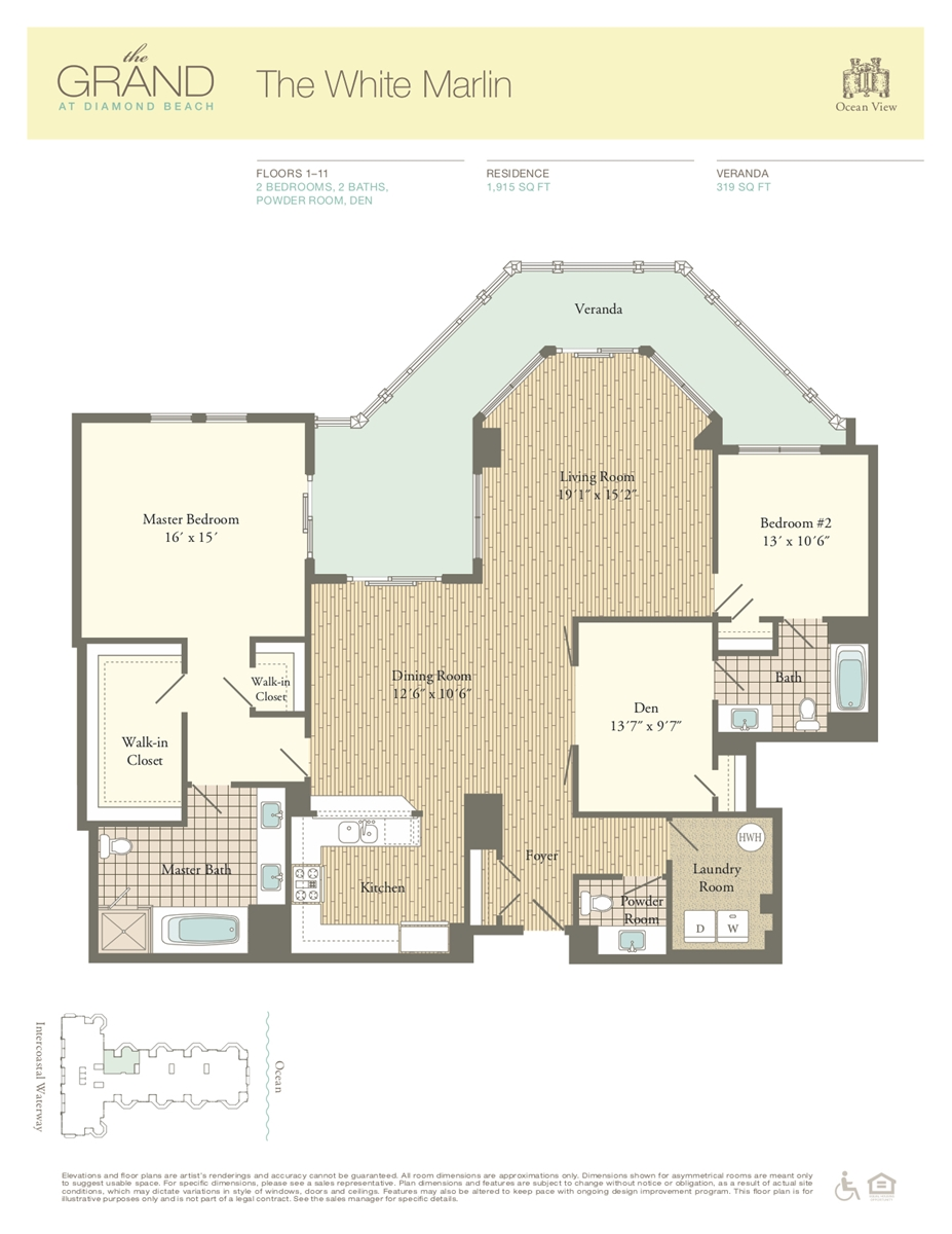 Floor Plan for Residence 1007