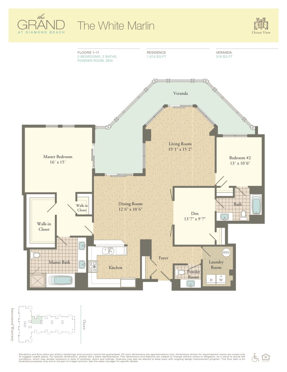 Floor Plan for Residence 107